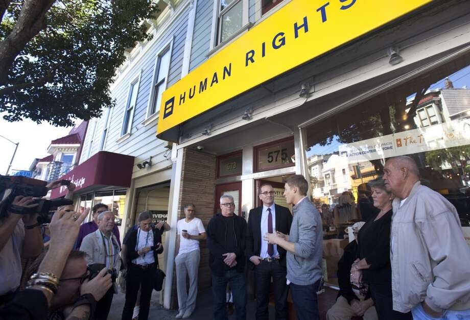 See where history was made at Harvey Milk's Castro Camera, now an outpost of the Human Rights Campaign on Castro St. Photo: Kevin Johnson, The Chronicle