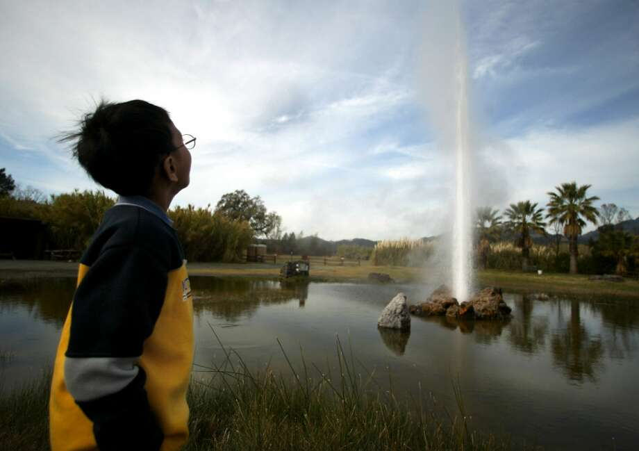 Spout off at the Old Faithful Geyser of California in Calistoga. Photo: Brant Ward, The Chronicle