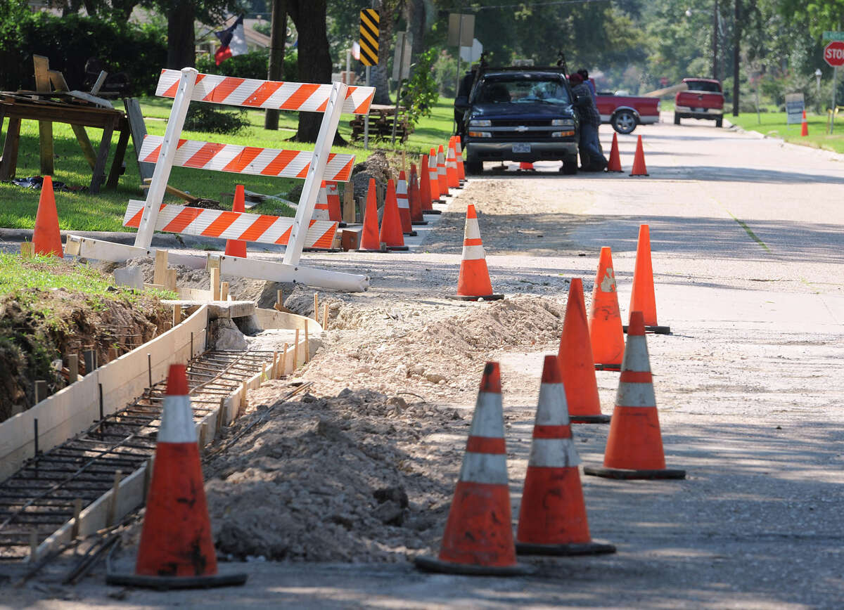 Road construction on Howell Street in Beaumont. Photo taken Friday, September 27, 2013 Guiseppe Barranco/The Enterprise