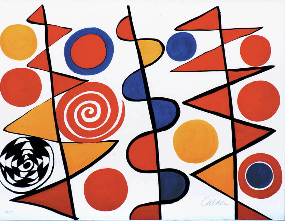 This work, an untitled lithograph by AlexanderCalder, is part of Westport's Permanent Art Collection. It will be on view with many other works in a special bus tour of the art in Westport's schools and firehouse. Photo: Contributed Photo / Westport News