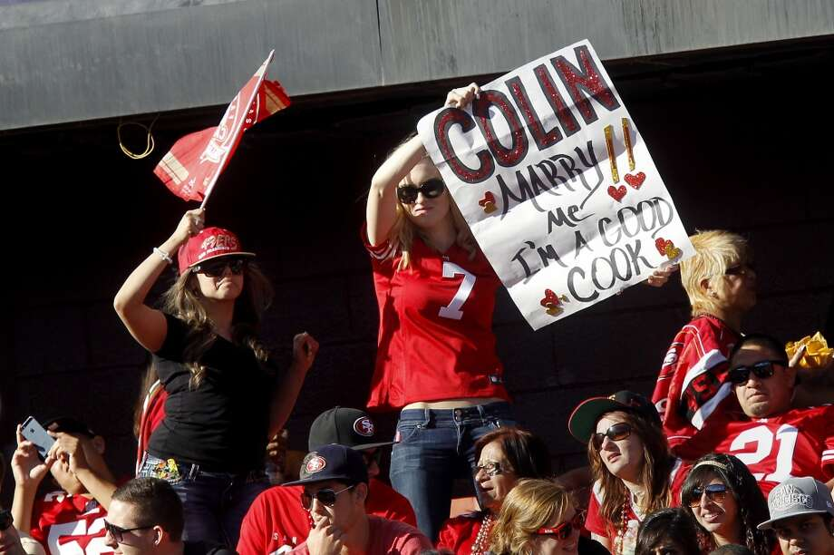 Some fans express their desires from the endzone Sunday October 13, 2013 in San Francisco, Calif. The San Francisco 49ers beat the Arizona Cardinals 32-20 at Candlestick Park. Photo: The Chronicle