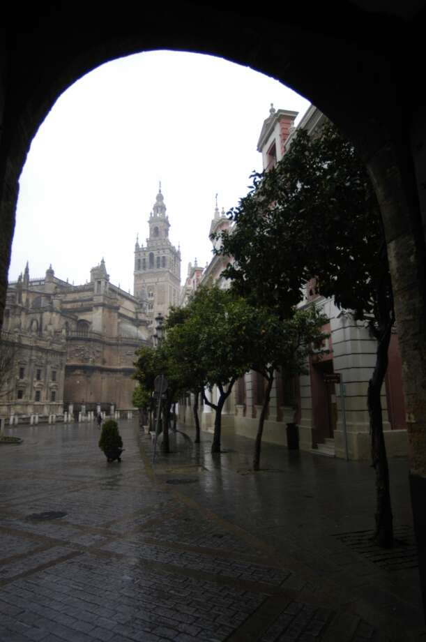 View of the Cathedral of Seville and the Giralda bell tower from the Alcazar. Photo: Spud Hilton, The Chronicle
