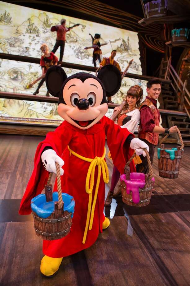 Mickey and the Magical Map: Mickey Mouse and a cast of beloved Disney characters embark on a series of musical adventures through the magical powers of a sorcerer's map. Runs five times a day at Disneyland's Fantasyland Theatre. Photo: Paul Auyeung, Paul Auyeung / Disney