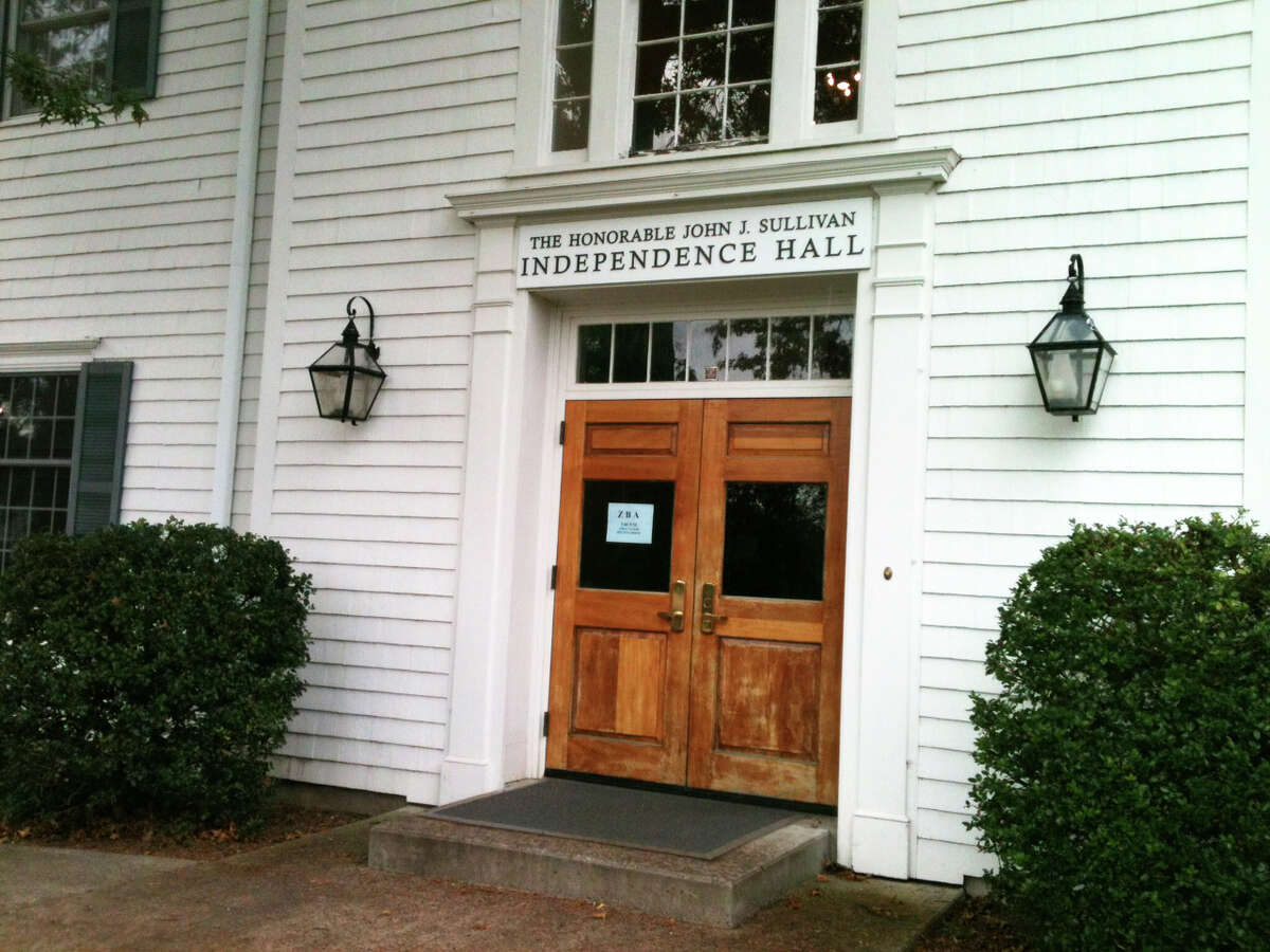 The south entrance to Sullivan-Independence Hall.