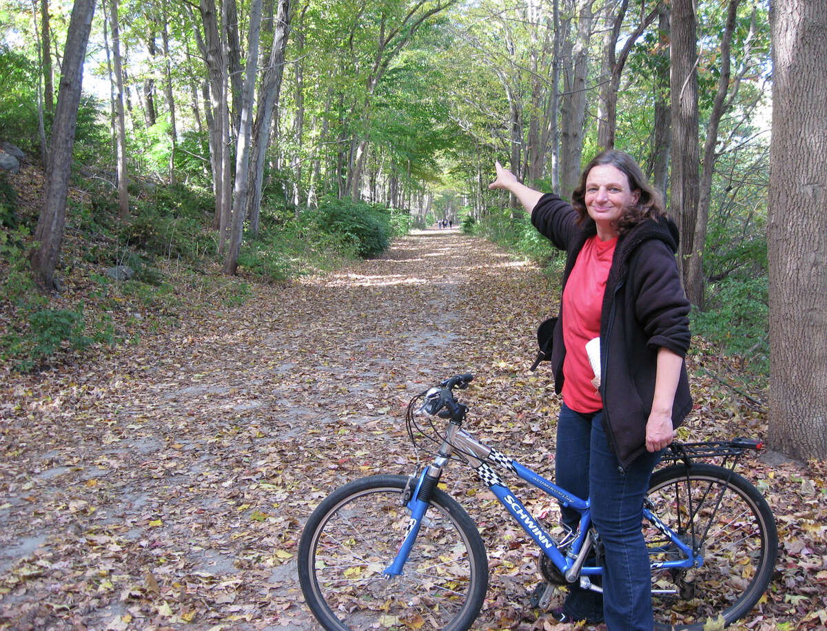 """Sue DelBianco, a local historian and author, will give a talk, """"Rails to Back Trails,"""" at Trumbull's Fairchild-Nichols Memorial Library, 1718 Huntington Turnpike, on Wednesday, Oct. 16, from 6:30 to 7:30 p.m., about the history of the development of the train line through Trumbull and Newtown, its impact on commerce and transformation into a hiking/biking trail. DelBianco is the author of """"Rails to Trails A Journey Back in Time."""""""
