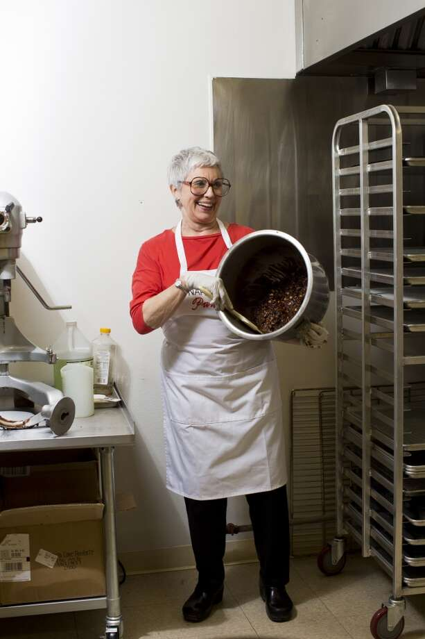 Marjorie Caldwell, of Napa Cakes Panforte, makes her cakes by hand and are available in stores like Bi-Rite markets and other boutique stores. Photo: Jason Henry, Special To The Chronicle