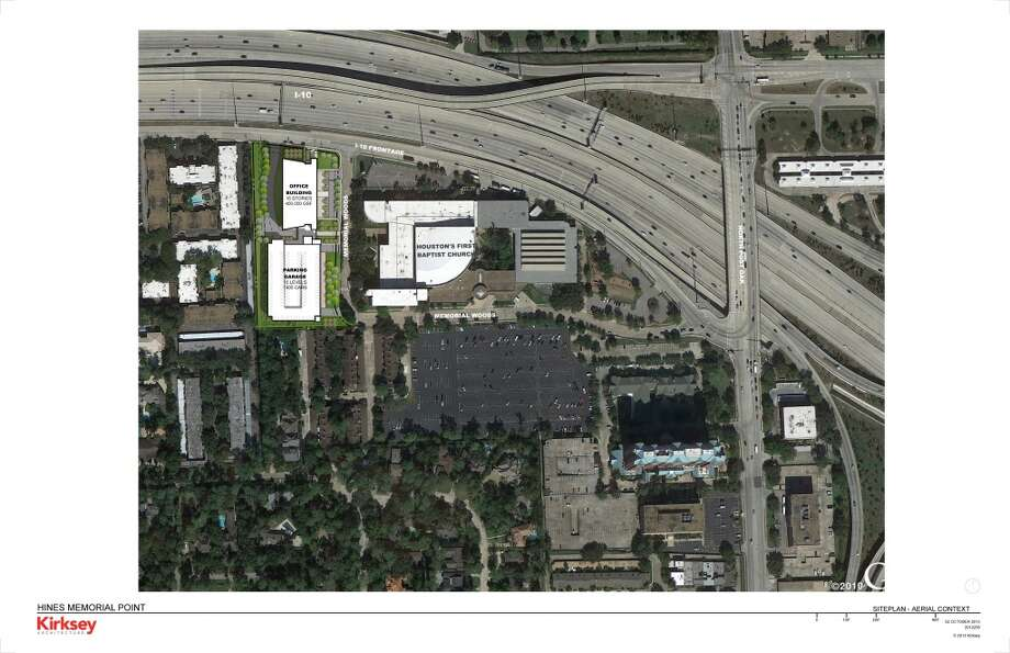 This site plan shows the location of Memorial Pointe. Photo: Courtesy Of Hines