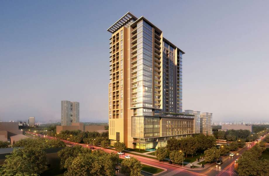 The Southmore will be a 25-story luxury apartment tower on a block bounded by Southmore, Oakdale, San Jacinto and Caroline. Photo: Courtesy Of Hines