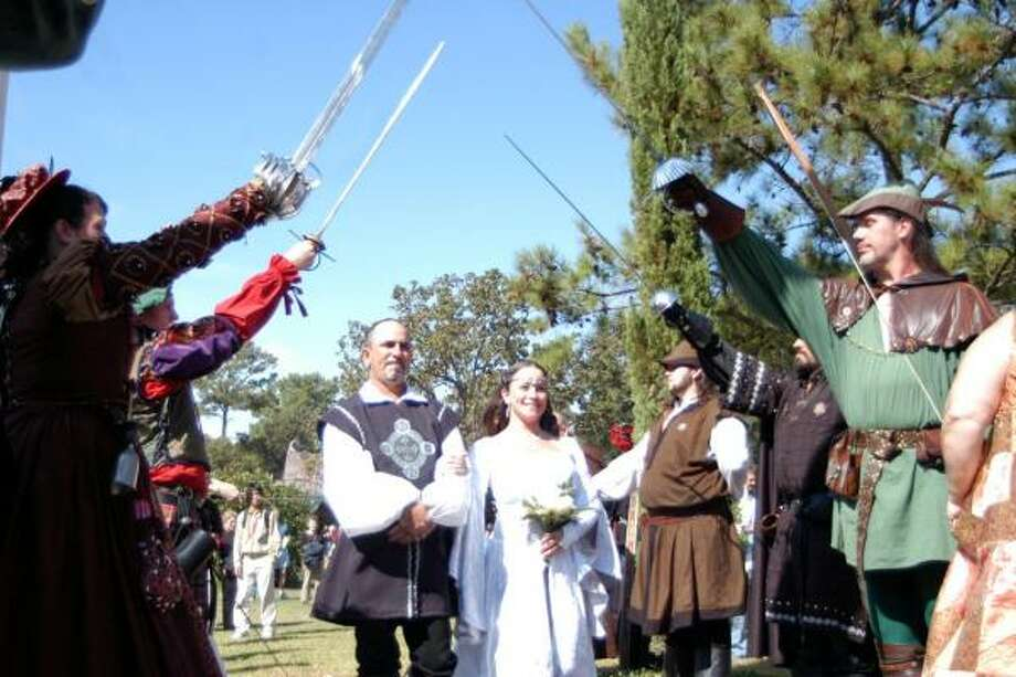 The Texas Renaissance Festival grounds hold five wedding chapels and two receptions venues. They take reservations year round. Photo: Texas Renaissance Festival