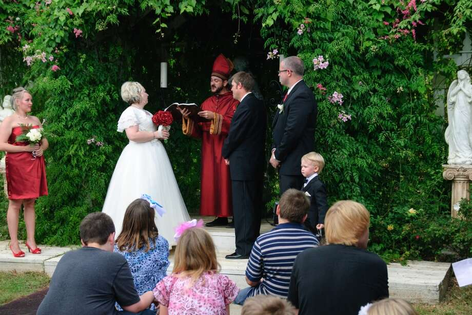 The Texas Renaissance Festival grounds hold five wedding chapels and two receptions venues. They take reservations year round. Photo: Steven David, Texas Renaissance Festival