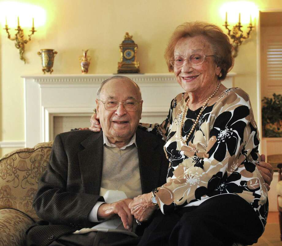 Jack and Pearl Marcus will turn 97 and 95, respectively, on Oct. 24 of this year. In place of a birthday party, there will be a community party in their honor on Oct. 27.  They are seen here in their Danbury, Conn., home on Monday, Oct 14, 2013. Photo: Michael Duffy / The News-Times