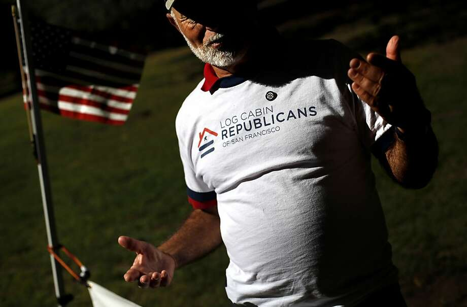 """Fred Schein, leader of the Log Cabin Republicans' S.F. chapter, says members battle the notion that it is """"inconsistent to be conservative and a gay person."""" Photo: Sarah Rice, Special To The Chronicle"""