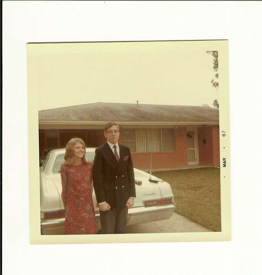 Jan Allen and her cousin Bruce Sanders pose in front of her home in Oakdale, La., during an Easter visit he and his family made from San Antonio in March 1967. Photo: Handout, Sanders, Reader Submission