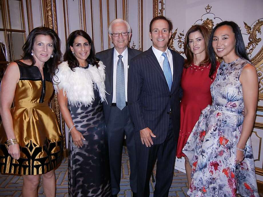 CPMC Wishes for Wellness co-chairs Sloan Barnett (left), Lisa Grotts, honoree Dr. Martin Brotman, Christopher Lenzo, Carol Bonnie and Dr. Carolyn Chang at the Fairmont Hotel. Photo: Catherine Bigelow, Special To The Chronicle