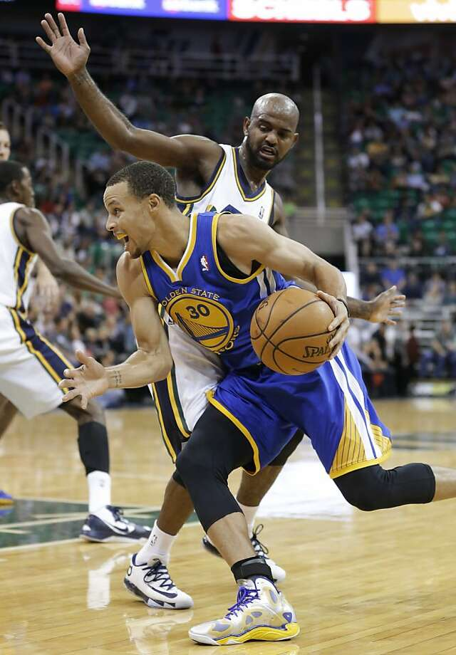 With extra preseason conditioning, Stephen Curry is ready for whatever Golden State's opponents plan to throw at him. Photo: Rick Bowmer, Associated Press