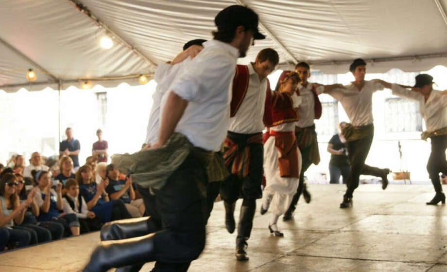 Dancers take the stage at last year's annual Greek Funstival at St. Sophia Greek Orthodox Church. This year, the fest begins Friday and continues through Sunday. Photo: Courtesy