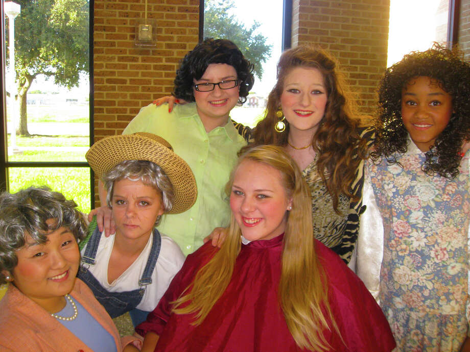 "The cast of ""Steel Magnolias"" includes (top) Lily Bateman, Mackenzie Cook, Meagan Mouton, (bottom row) Hannah Hall, Abigail Peterson and Amanda Vignes. Photo: Courtesy"