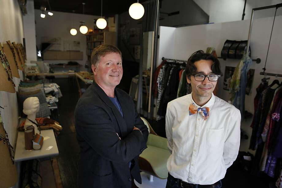 Jeff Oakes (left) and Jeff Gard opened Jeff, their aptly named design gallery and boutique in North Beach. Photo: Lea Suzuki, The Chronicle