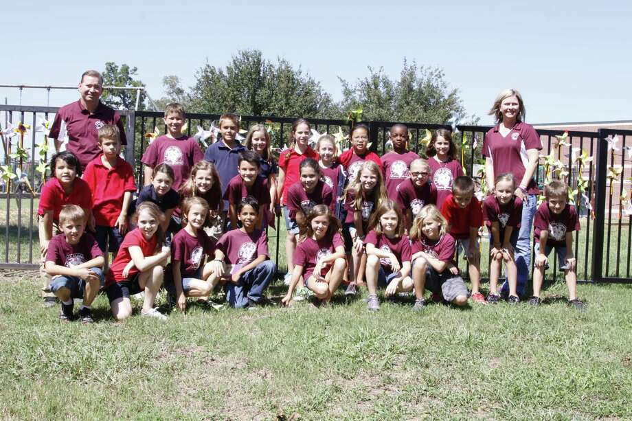 Students and faculty at Campbell Elementary School marked International Peace Day with a display of pinwheels. Photo: Provided By Campbell Elementary School