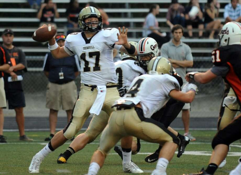 Nick Roberts, Trumbull QB Photo: Christian Abraham