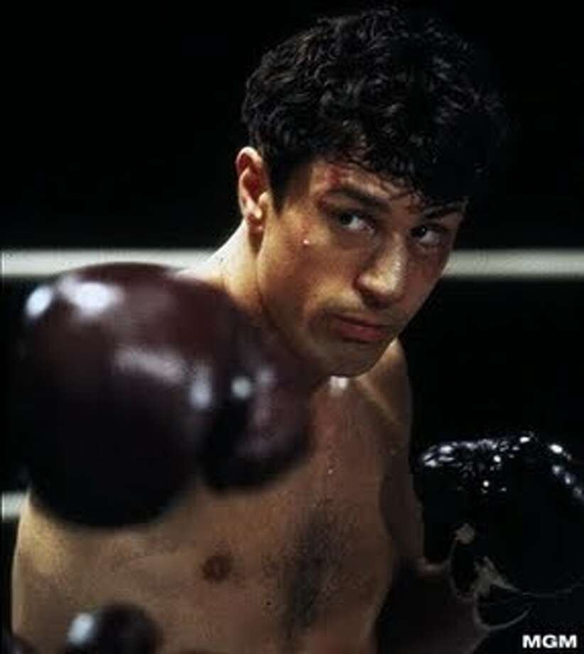 """Robert De Niro in """"Raging Bull.""""  Not sure it was topical, but everything else is there, including not one but two memorable performances (the other from Joe Pesci). Classic?  Only for as long as people watch movies. Photo: MGM 1980"""