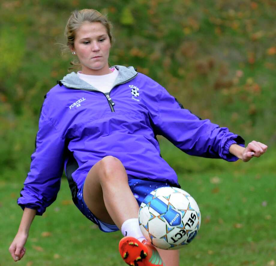 Catholic Central's Madison Purcell during soccer practice on Thursday, Oct. 10, 2013, at Catholic Central High School in Lansingburgh, N.Y. (Cindy Schultz / Times Union) Photo: Cindy Schultz / 00024190A