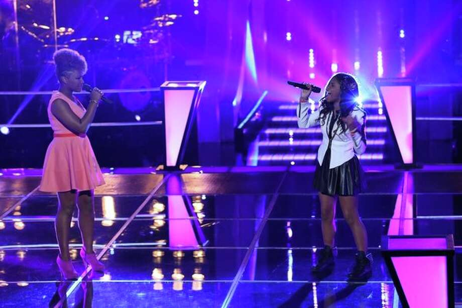 "THE VOICE -- ""Battle Rounds"" Episode 507 -- Pictured: (l-r) Amber Nicole, Timyra-Joi Beatty -- (Photo by: Justin Lubin/NBC) Photo: Justin Lubin/NBC / 2013 NBCUniversal Media, LLC"