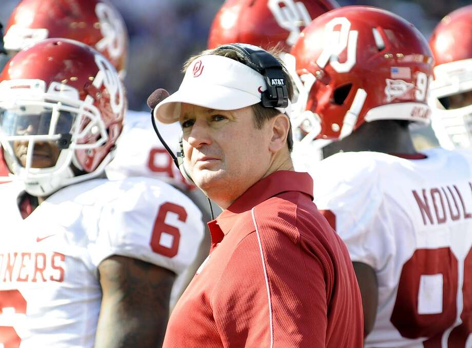Bob Stoops has some explaining to do following OU's no-show in the Red River Rivalry. Photo: Matt Strasen, Special Contributor