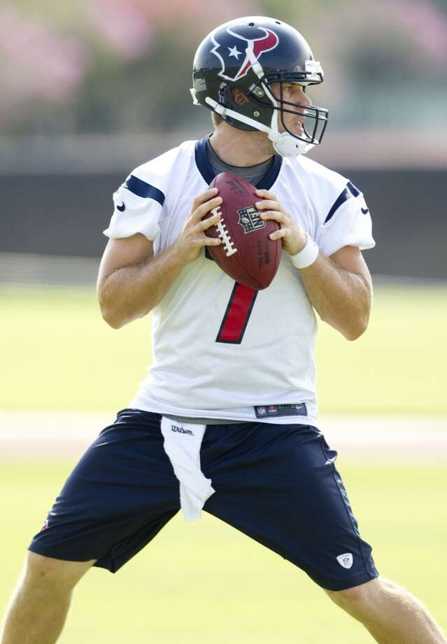 Case Keenum during practice with the Texans. Photo: Brett Coomer, Houston Chronicle