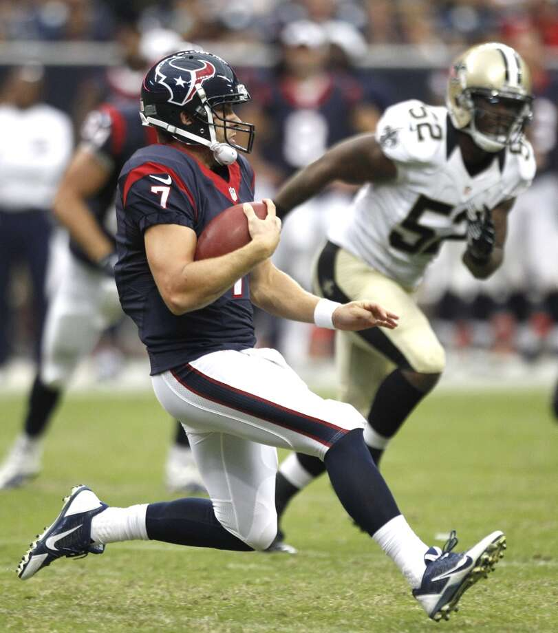 Case Keenum during a Texans' preseason game against the Saints. Photo: Brett Coomer, Houston Chronicle