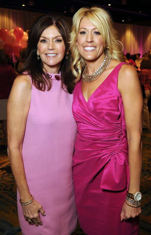 """Chairs Melissa Preston and Carrie Hyman and at the 13th annual """"The Pink of Health"""" luncheon benefitting Memorial Hermann at the Woodlands Waterway Marriott Friday Oct. 11,2013.(Dave Rossman photo) Photo: For The Houston Chronicle"""