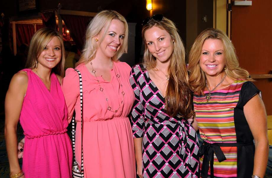 "From left: Kimberly Graff, Cassie Hanson, Jessica Stoner and Nancy Charbonneau at the 13th annual ""The Pink of Health"" luncheon benefitting Memorial Hermann at the Woodlands Waterway Marriott Friday Oct. 11,2013.(Dave Rossman photo) Photo: For The Houston Chronicle"