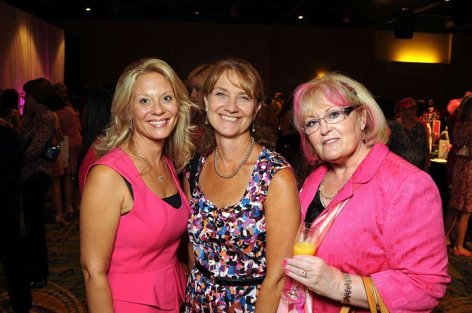 "Chrissy Mafrige Jan Fitzgerald and Pam Whitlock at the 13th annual ""The Pink of Health"" luncheon benefitting Memorial Hermann at the Woodlands Waterway Marriott Friday Oct. 11,2013.(Dave Rossman photo) Photo: For The Houston Chronicle"