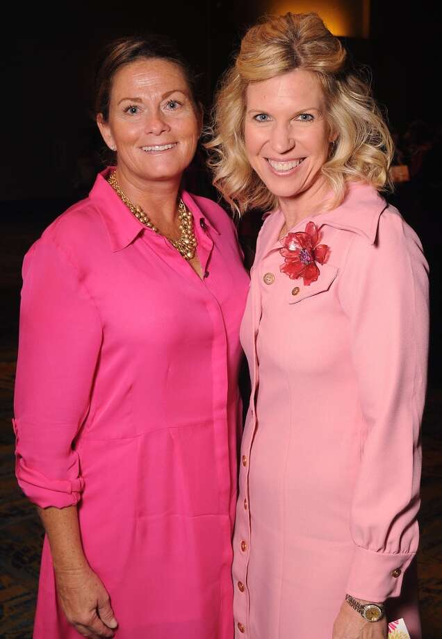 "Rene Burns and Pam Brooks at the 13th annual ""The Pink of Health"" luncheon benefitting Memorial Hermann at the Woodlands Waterway Marriott Friday Oct. 11,2013.(Dave Rossman photo) Photo: For The Houston Chronicle"