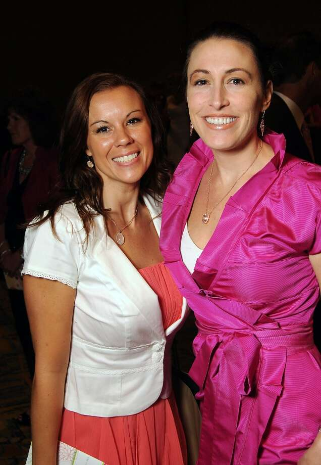 """Erin Link and Courtney West at the 13th annual """"The Pink of Health"""" luncheon benefitting Memorial Hermann at the Woodlands Waterway Marriott Friday Oct. 11,2013.(Dave Rossman photo) Photo: For The Houston Chronicle"""