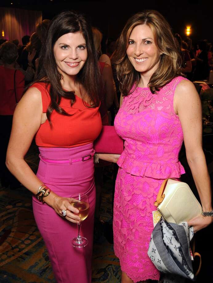"Shirelle Chimenti and Denise Lipar at the 13th annual ""The Pink of Health"" luncheon benefitting Memorial Hermann at the Woodlands Waterway Marriott Friday Oct. 11,2013.(Dave Rossman photo) Photo: For The Houston Chronicle"