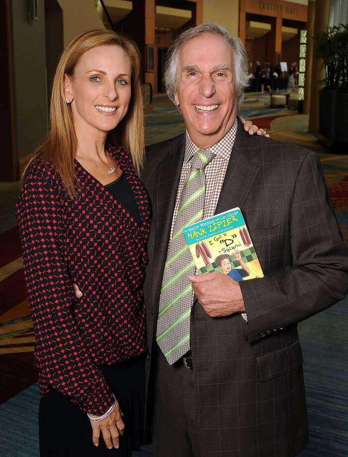 "Keynote speakers Marlee Matlin and Henry Winkler at the 13th annual ""The Pink of Health"" luncheon benefitting Memorial Hermann at the Woodlands Waterway Marriott Friday Oct. 11,2013.(Dave Rossman photo) Photo: For The Houston Chronicle"