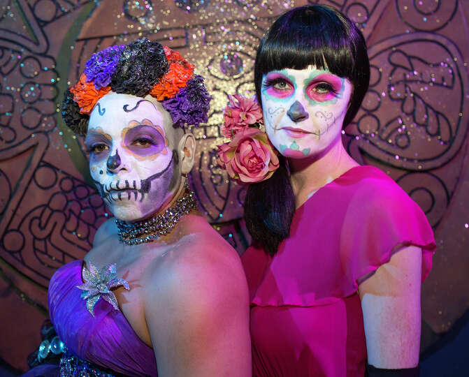 From the left, Andy Sanchez and Denise Chesney at Rene Roberts' 3rd Annual Dia De Los Muertos Ball b