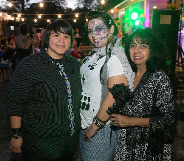 From the left, Jessica Hawkins, Giomara Bazaldua and Maria Velasquez Miller during the Esperanza Pea