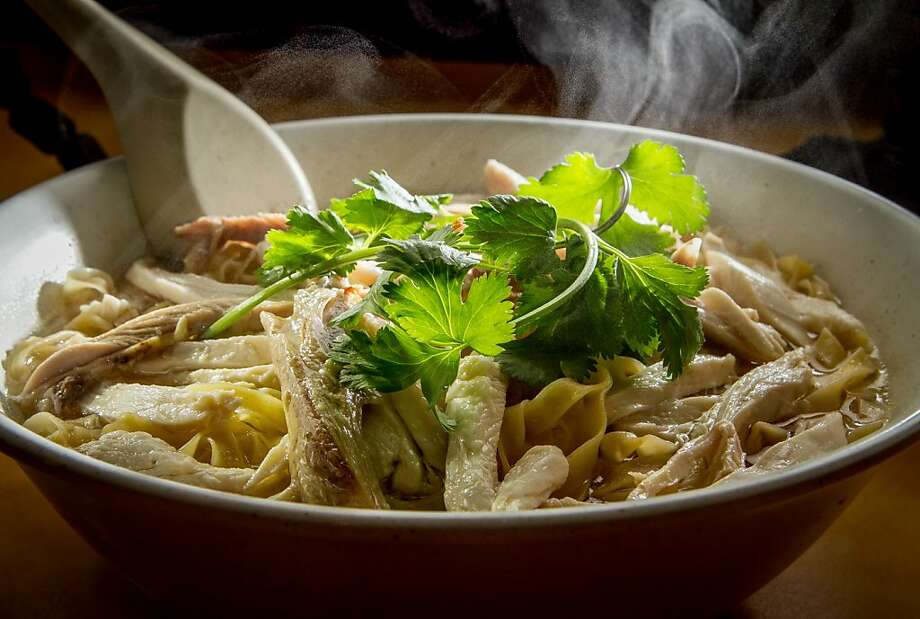 Shredded chicken egg noodle soup is served up at Hai Ky Noodle House. Photo: John Storey, Special To The Chronicle