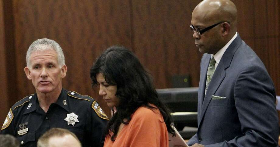 Ana Lilia Trujillo reportedly told police she was trying protect herself when she allegedly stabbed her boyfriend with a stiletto high heel at a Houston Museum District condominium high-rise at Parklane on 1701 Hermann Drive. Photo: James Nielsen, Houston Chronicle