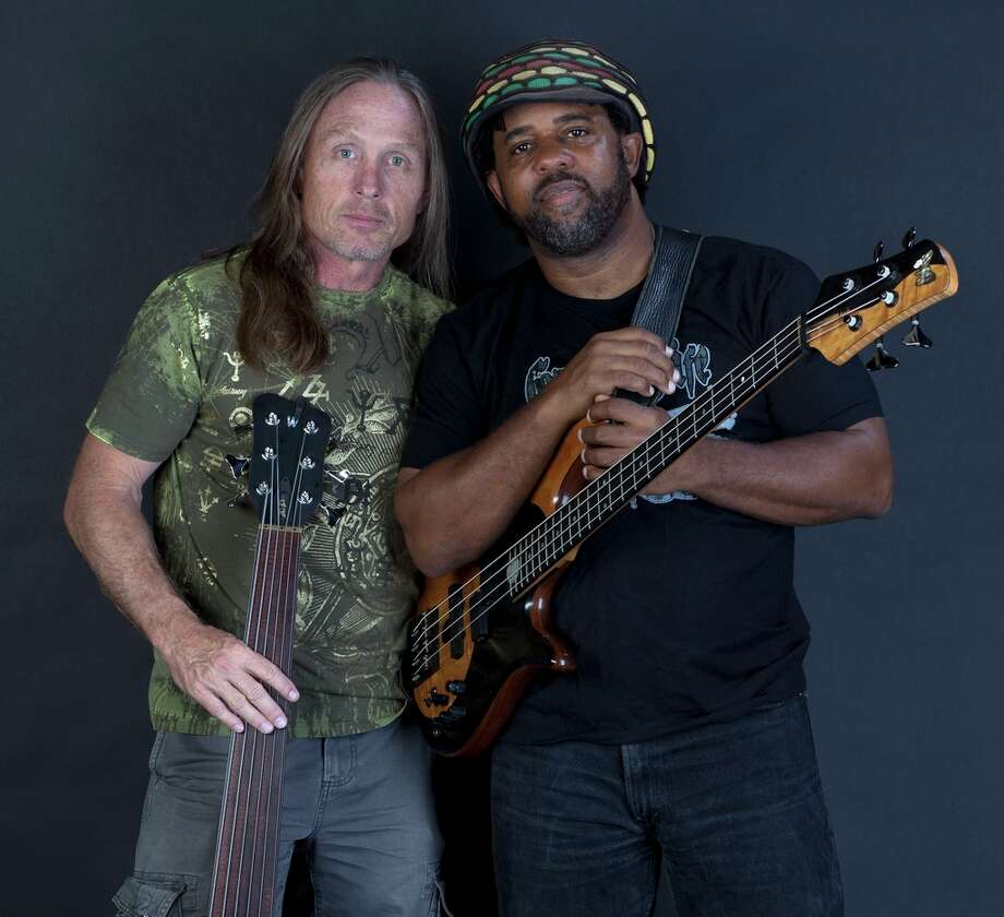 Steve Bailey, left, and Victor Wooten of Bass Extremes will perform on Oct. 21 at San Jacinto College.