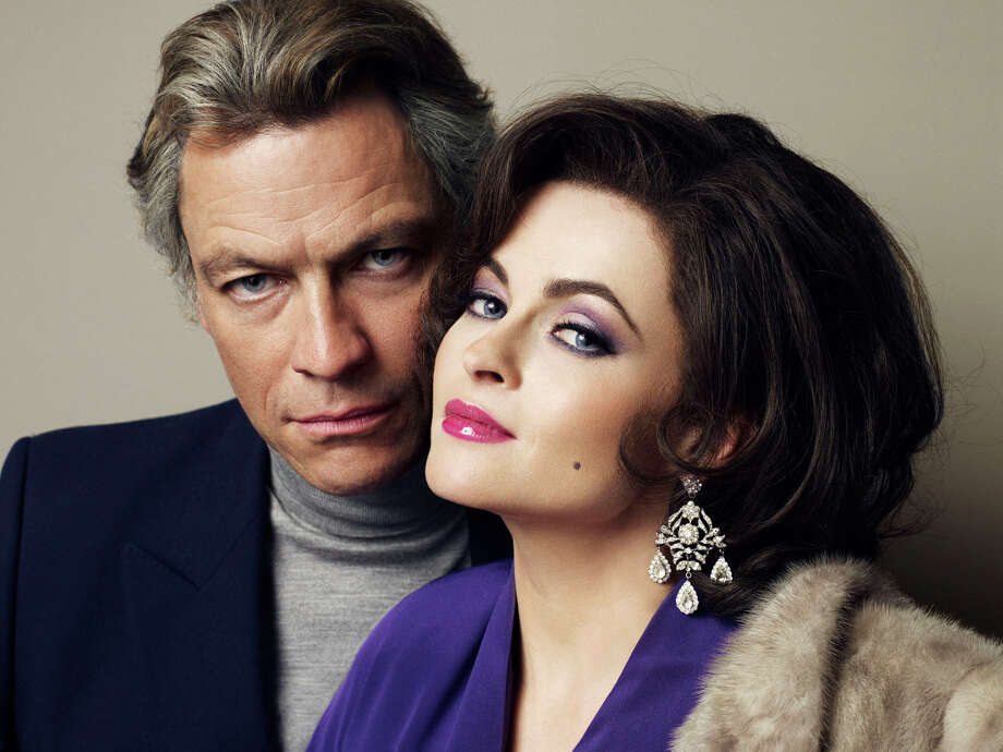 """Burton and Taylor,"" Elizabeth Taylor (Helena Bonham Carter) and Richard Burton (Dominic West) (BBC)"