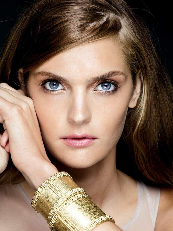 The second step in Saks Fifth Avenue's fall beauty trends is a golden smoky eye.