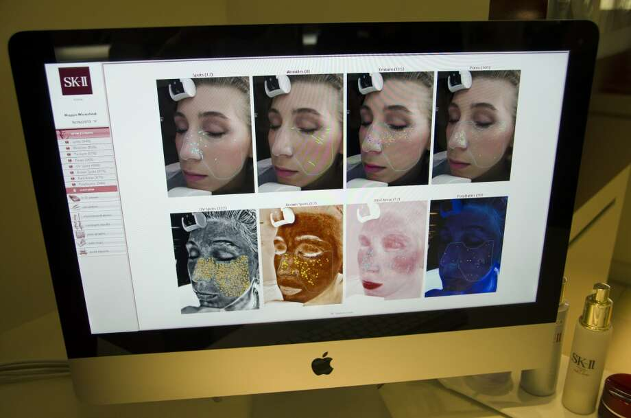 The author's skin being analyzed.
