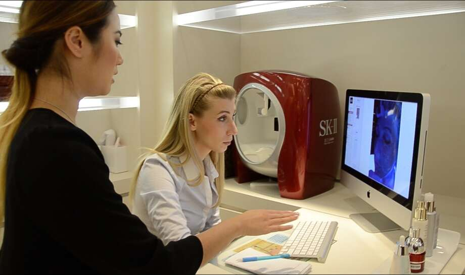 The author, Maggie Winterfeldt, reviews the results of her SK-II Beauty Imaging System analysis.