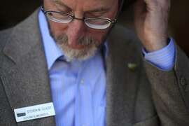 Taking a call from a member of the press, Orinda City Council member and banBARTstrikes.com organizer Steve Glazer prepares to start his campaign to ban transit strikes in California by riding to all 44 BART stops on Monday, October 14, 2013 in Monday Oct. 14, 2013 in Orinda, Calif.