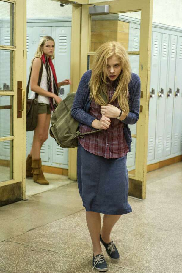 "Gabriella Wilde and Chloë Grace Moretz (right) in the latest adaptation of ""Carrie."" Photo: Sony Pictures"