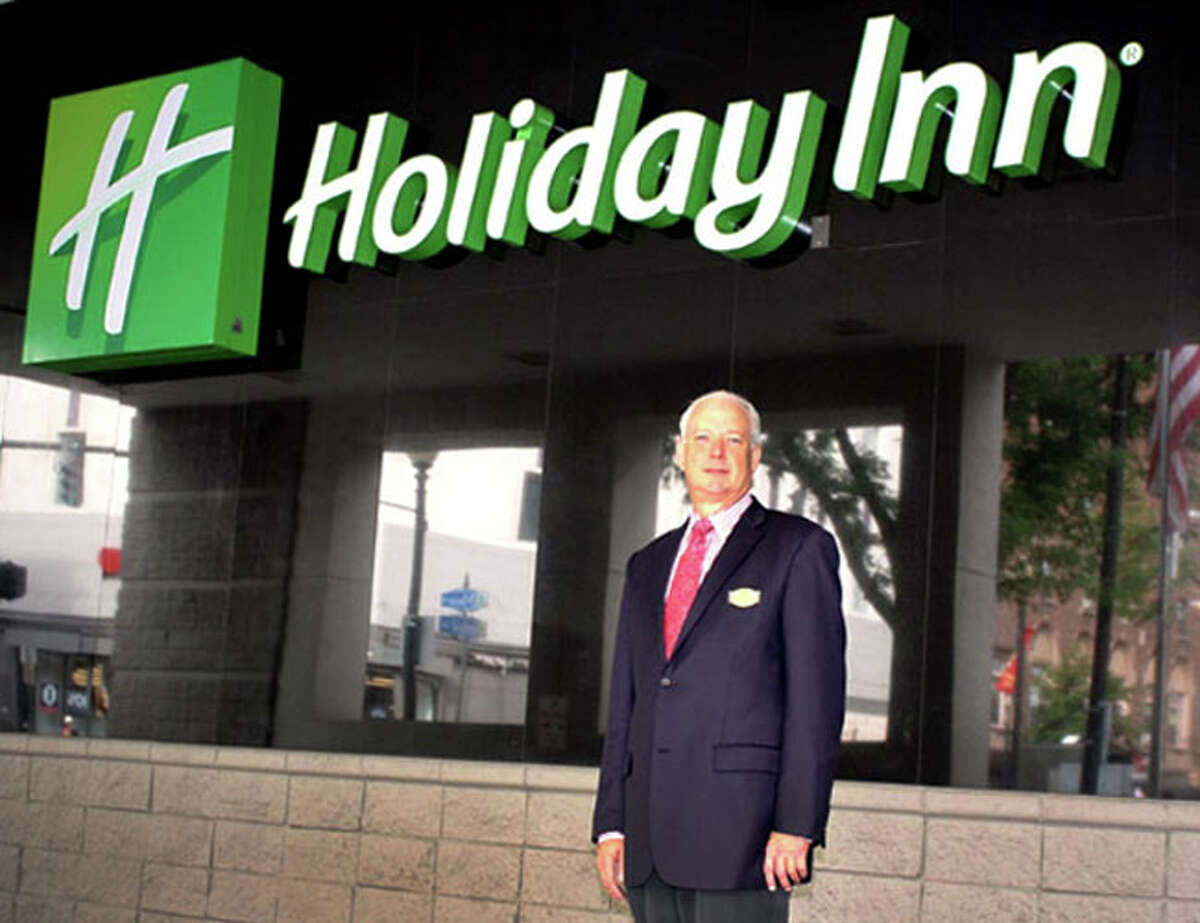 The former manager of the Bridgeport Holiday Inn, William McGarry, claims he was fired for refusing to raise room rates for people seeking shelter from the effects of Hurricane Sandy.