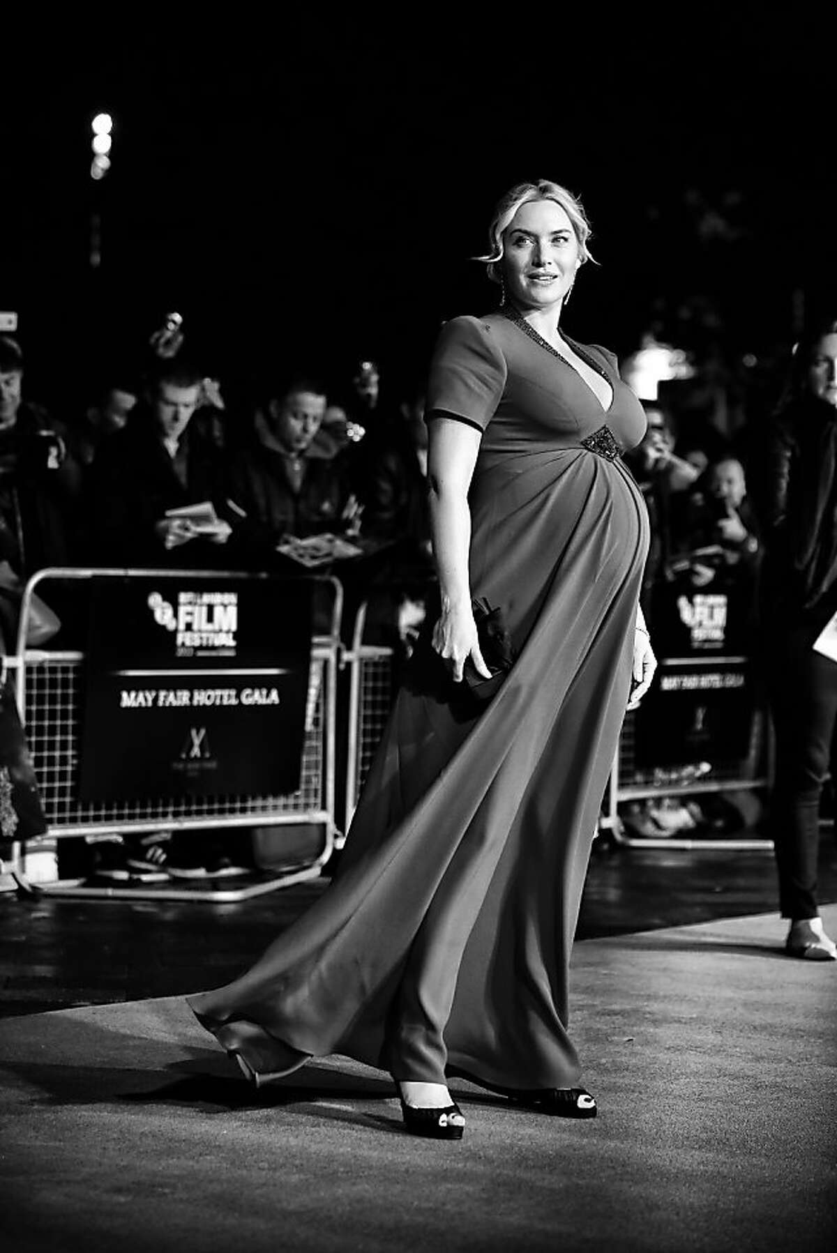 Ready for 'Labor Day' : Kate Winslet arrives at the Odeon for the screening of